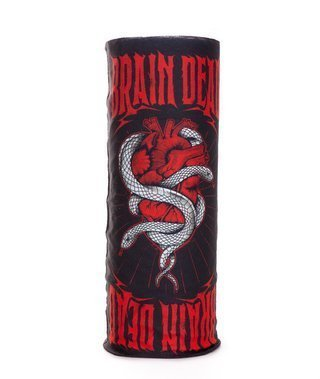 Bandana Brain Dead Familia Heart Black-Red