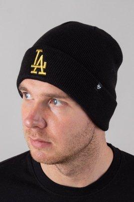 Czapka 47 Brand Zimowa Cuff Knit Los Angeles Dodgers Black-Gold