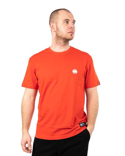 Koszulka Pit Bull Small Logo Pomarańczowa