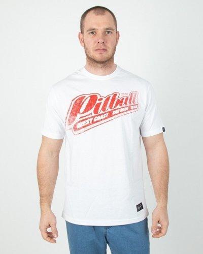 Koszulka Pitbull Red Brand White