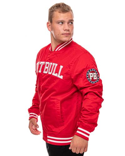 Kurtka Bejsbolówka Pit Bull Tyrian Varsity Czerwona