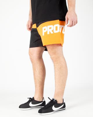 Spodenki Kąpielowe Prosto Ches Black-Orange