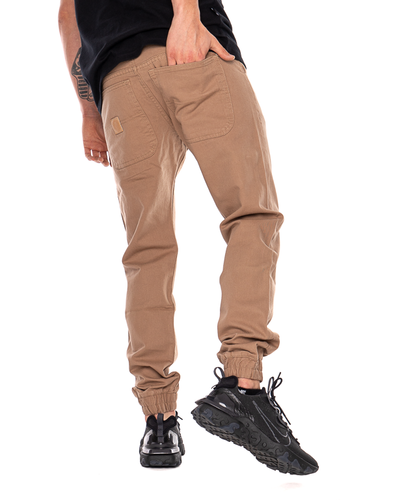 Spodnie Chino Jogger Mass Base Brązowe