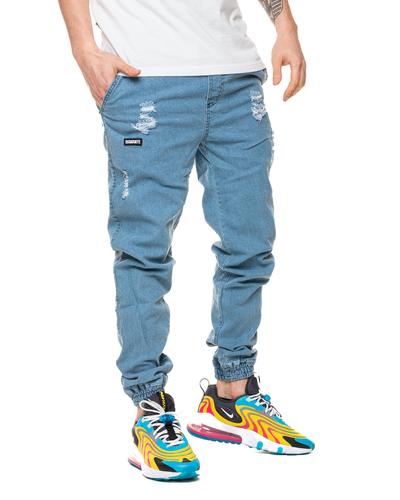 Spodnie Jeans Jogger Diamante Wear Ripped Jasnoniebieskie