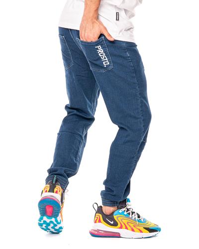 Spodnie Jeans Jogger Prosto Imit Niebieskie
