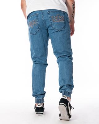 Spodnie Jeans Jogger Slim El Polako Me Elpo Jasnoniebieskie