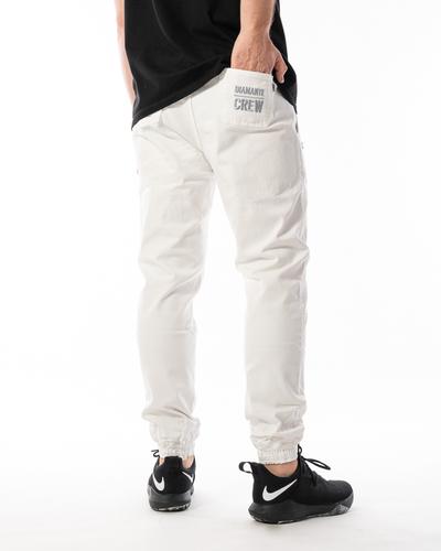 Spodnie Materiałowe Jogger Diamante Wear Crew Białe