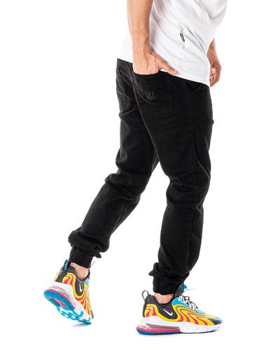 Spodnie Materiałowe Jogger Jigga Wear Crown Czarne / Czarne