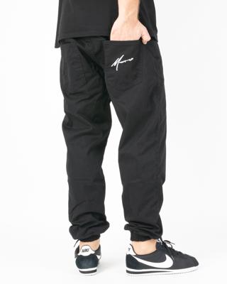 Spodnie Moro Sport Chino Jogger Big Paris White Pocket Black