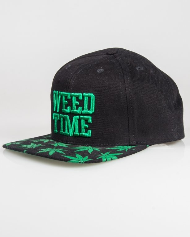 MASS SNAPBACK WEED TIME BLACK-GREEN