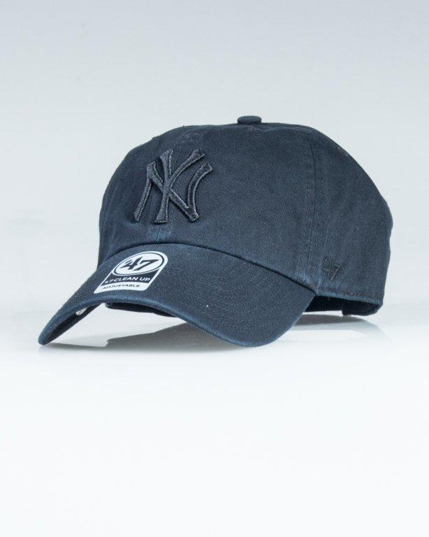 47 BRAND CAP MLB NEW YORK YANKEES BLACK-BLACK