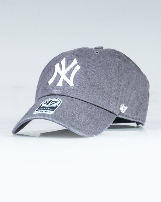 47 BRAND CAP MLB NEW YORK YANKEES CLEAN UP GREY