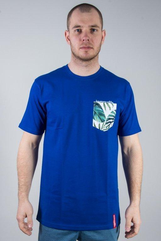 Alkopoligamia Koszulka T-shirt Lyl Botanix Pocket Blue