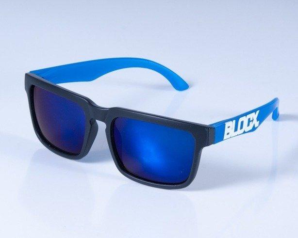 BLOCX OKULARY SQUARE BLACK BLUE COL