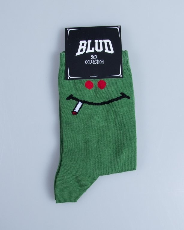 BLUD SOCKS QUARTER GREEN SMILE GREEN