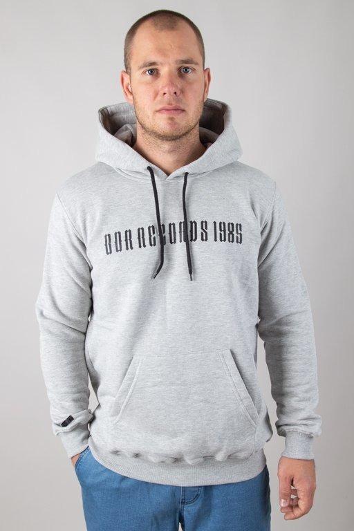 Bluza Bor Hoodie Records Grey
