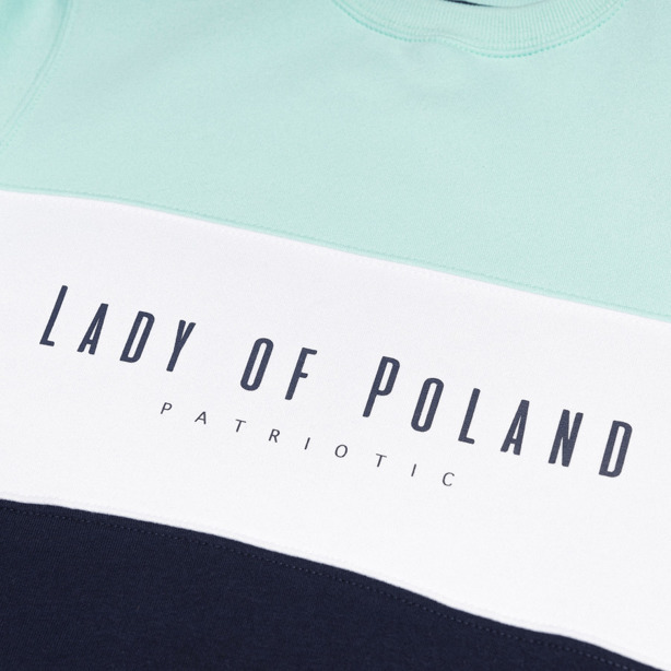 Bluza Damska Patriotic Lady of Poland Trio White-Mint