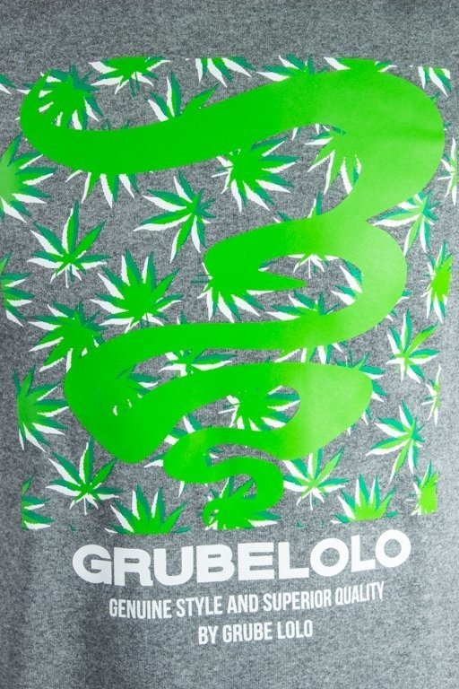 Bluza Grube Lolo Logo Full Ganja Grey