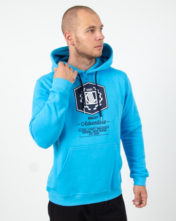 Bluza Hoodie Diil Adventure Light Blue