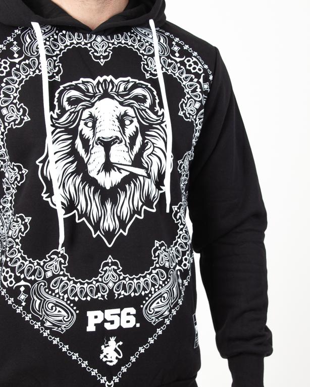 Bluza Hoodie Dudek P56 Lion Bandana Black