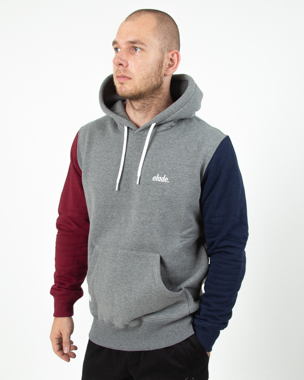 Bluza Hoodie Elade Logo Grey