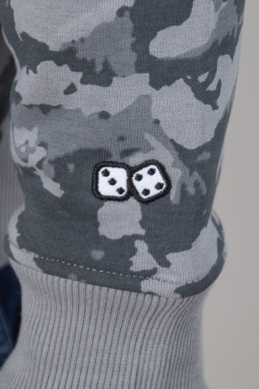 Bluza Lucky Dice Hoodie Stain Grey