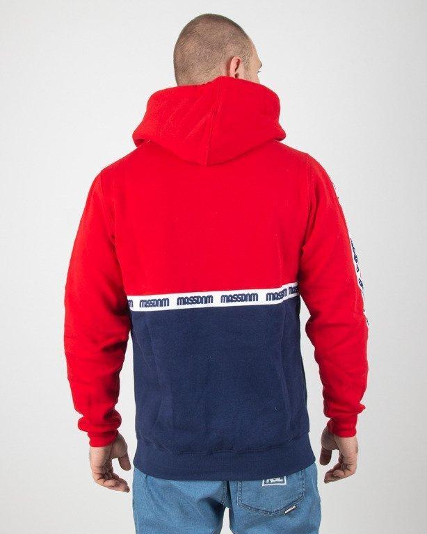 Bluza Mass Hoodie Line Red-Navy