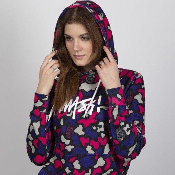Bluza Mass Hoodie Woman Signature Medium Logo Camo Violet