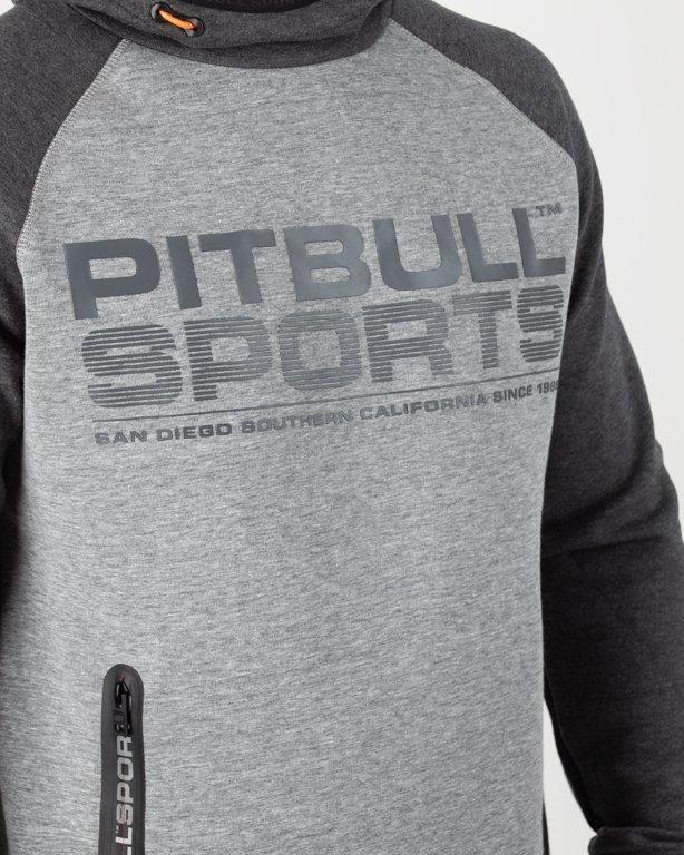 Bluza Pitbull Hoodie Logan 2 Colors Melange-Grey