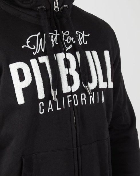 Bluza Pitbull Hoodie Zip Pittbul California Black