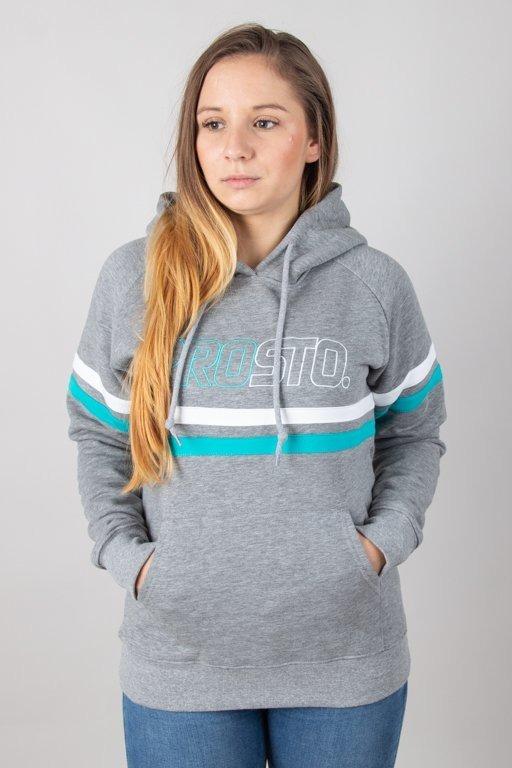 Bluza Prosto Hoodie Woman Elbow Grey