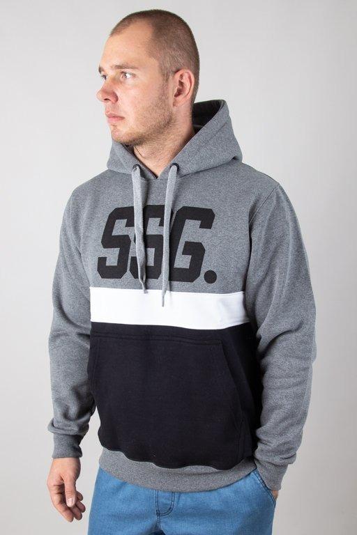 Bluza SSG Hoodie Triple Line Grey-Black