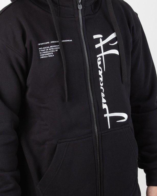 Bluza Stoprocent Hoodie Zip Frontcut Black