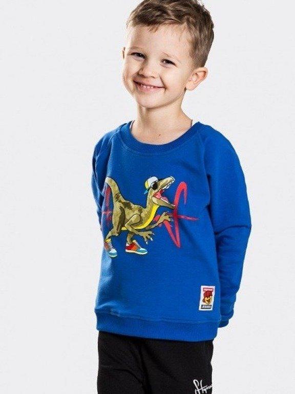 Bluza Stoprocent Kid Stoprozaur Blue