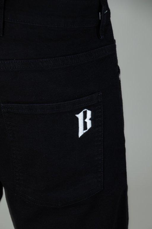 Bor Krótkie Spodenki Jeansowe Borcrew Black