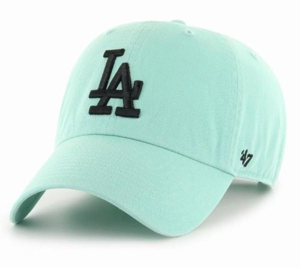 Czapka 47 Brand Los Angeles Dodgers Clean Up Mint