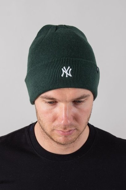 Czapka 47 Brand Zimowa Cuff Knit New York Yankees Green-White