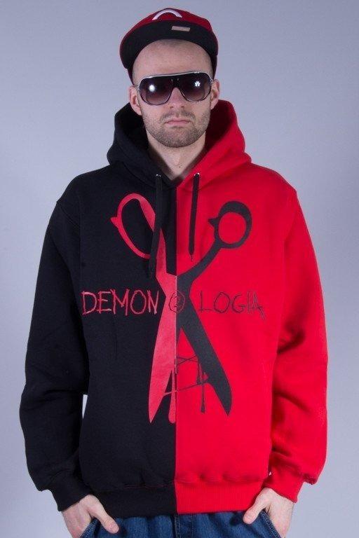 DEMONOLOGIA BLUZA Z KAPTUREM NOŻYCZKI BLACK-RED