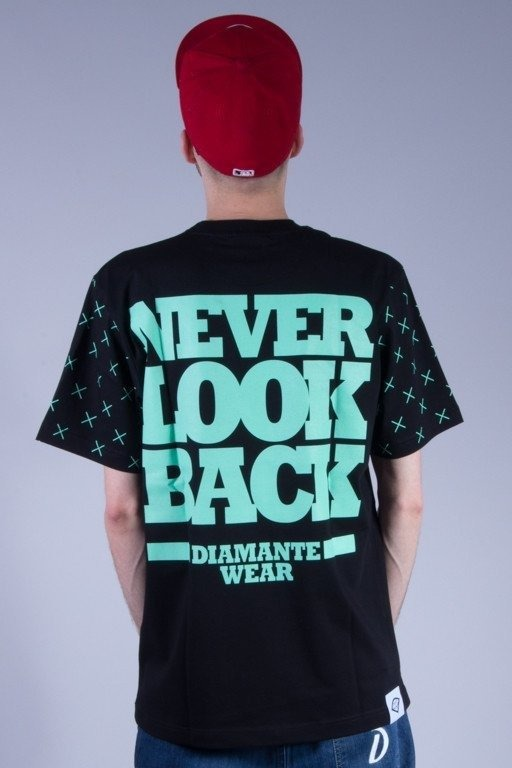 DIAMANTE WEAR KOSZULKA NEVER LOOK BACK BLACK