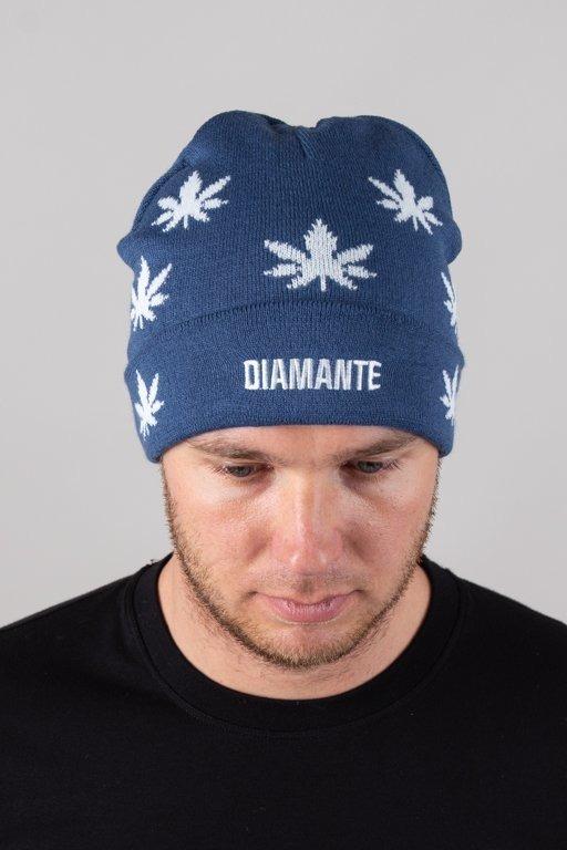 DIAMANTE WEAR WINTER CAP GANJA BLUE