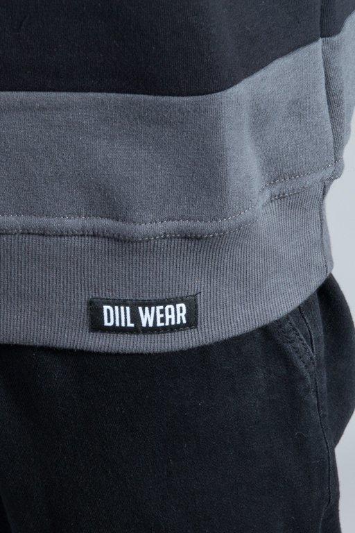 DIIL CREWNECK OUTLINE BLACK-GREY