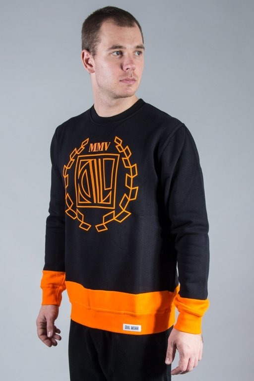 DIIL CREWNECK OUTLINE BLACK-ORANGE