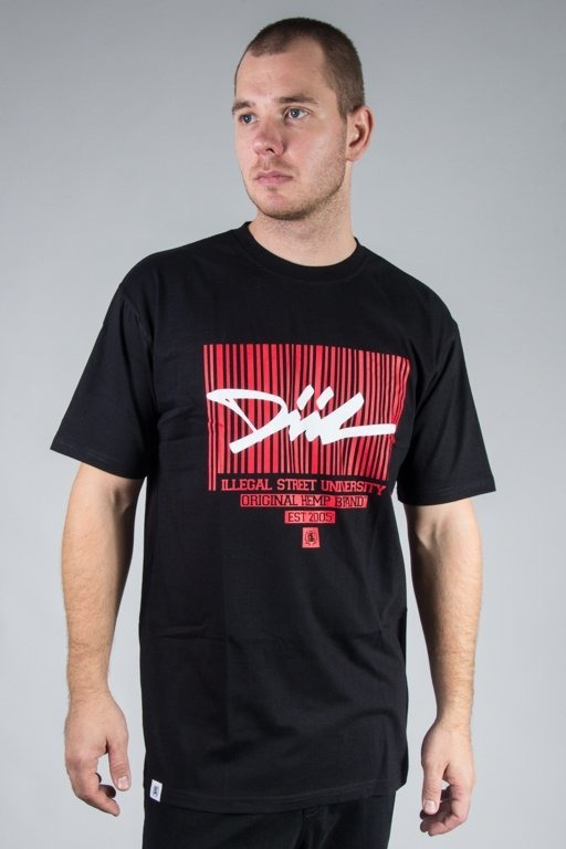 DIIL T-SHIRT CODE BLACK-RED