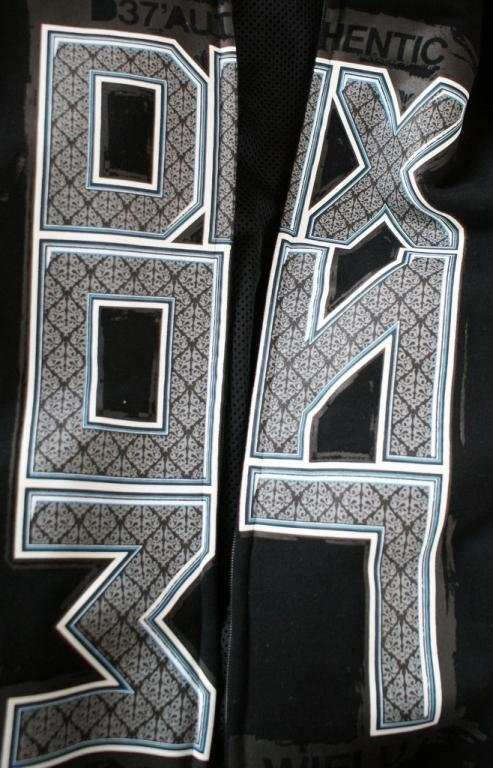 DIXON 37 BLUZA Z KAPTUREM ZIP ORNAMENT CZARNA