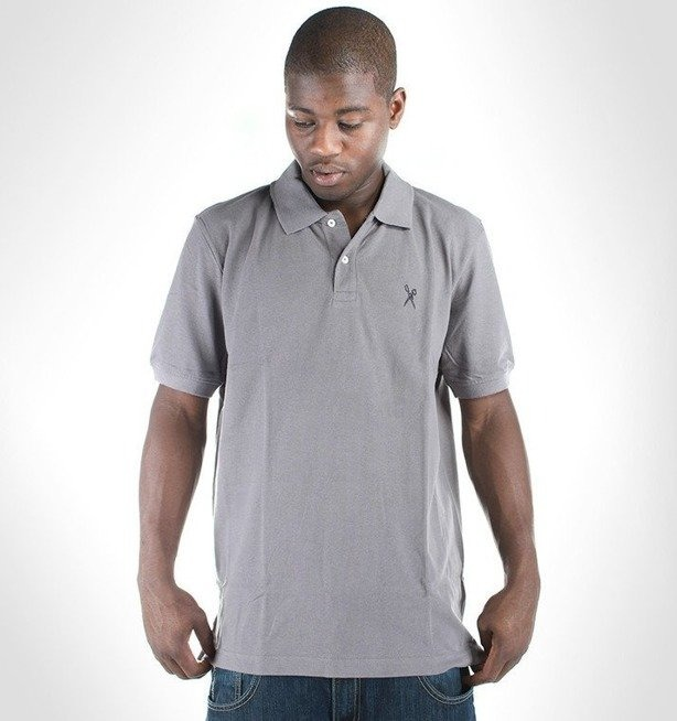 ECKO KOSZULKA POLO EMBROIDERY SHEAR GREY