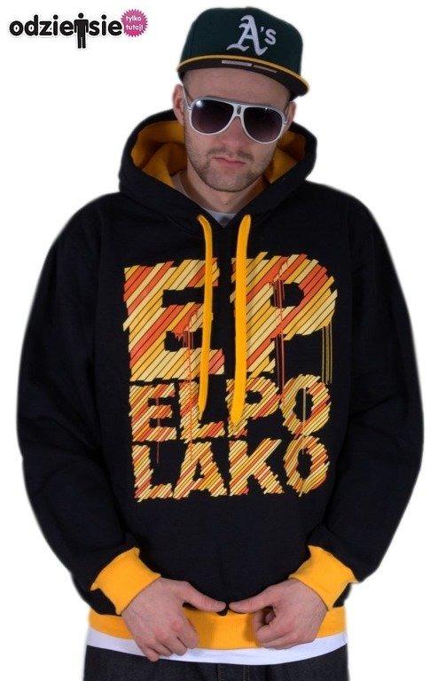 EL POLAKO BLUZA Z KAPTUREM EP BLACK