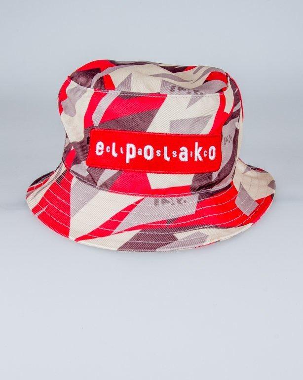 EL POLAKO BUCKET HAT TRIANGLE MORO RED