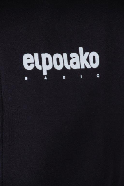 EL POLAKO HOODIE ZIP LITTLE CLASSIC BLACK