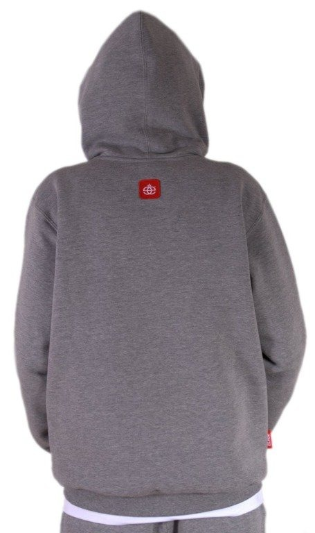 ELADE BLUZA Z KAPTUREM E ZIP GREY