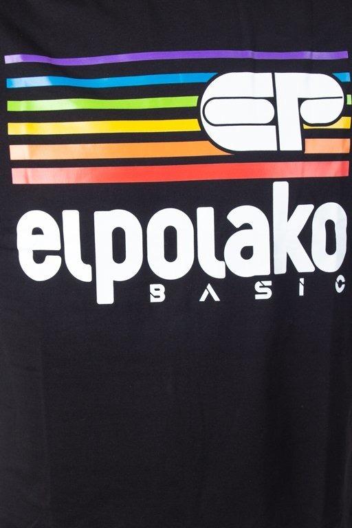 El Polako Koszulka T-shirt Rainbow Black